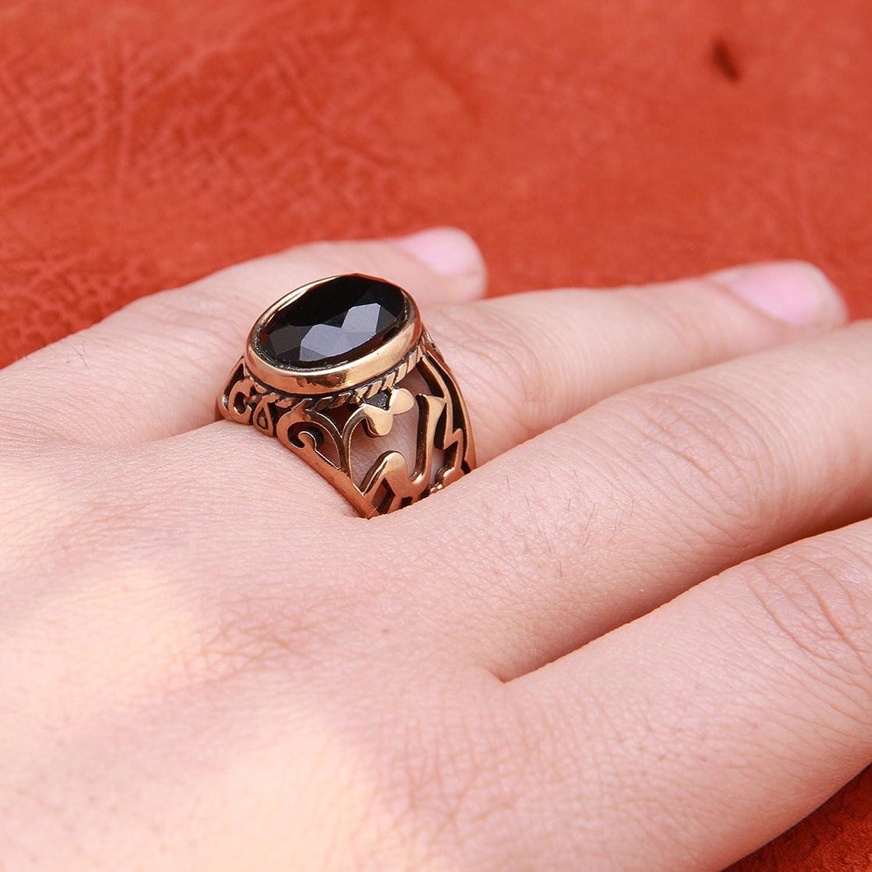Amazon.com: Gold Pt Green Stone Imam Ali Islamic Arabic Ring Islam ...