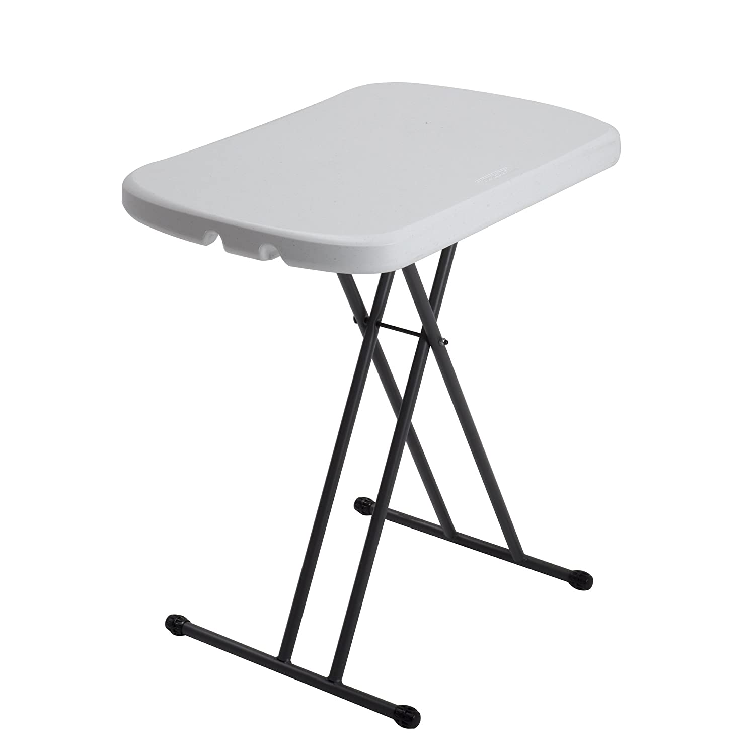 Amazon.com: Lifetime 80251 Height Adjustable Folding Personal Table, 26  Inch, White Granite: Garden U0026 Outdoor