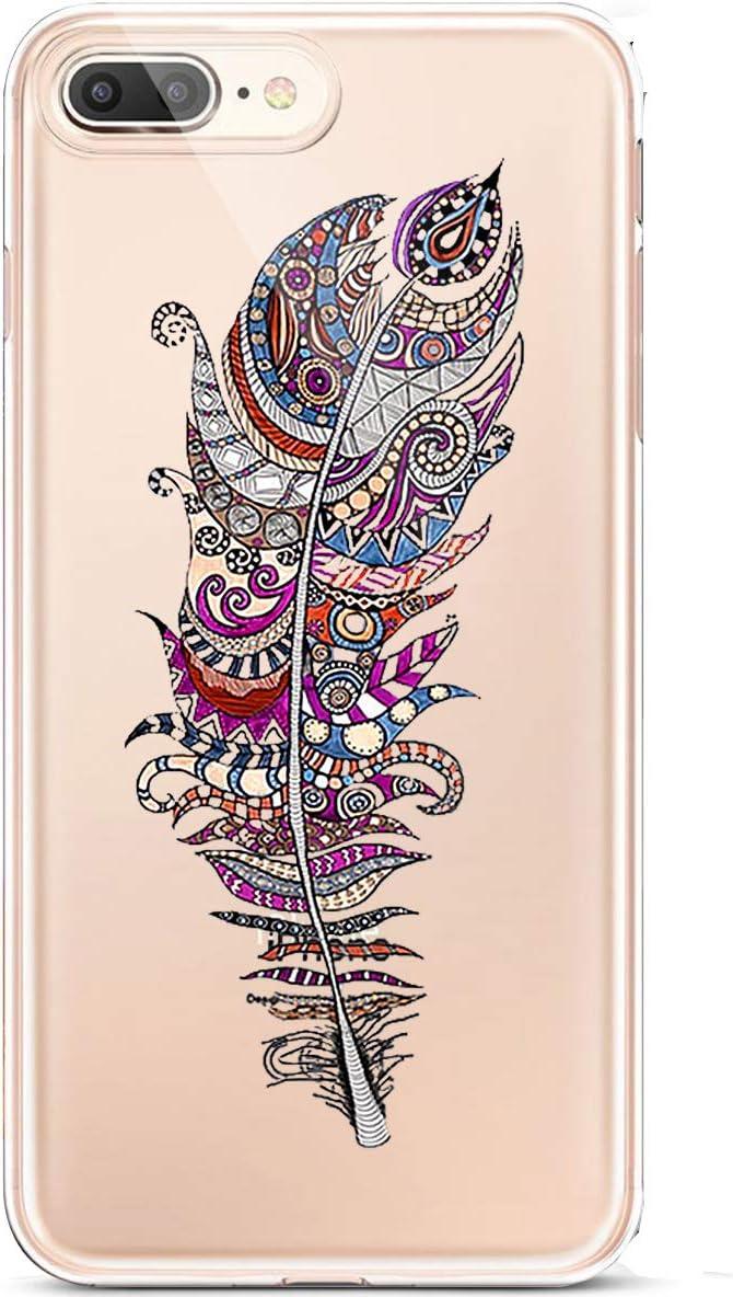 Karomenic Silikon H/ülle kompatibel mit iPhone 7 Plus//8 Plus Kreative Cartoon Transparent Handyh/ülle Durchsichtig Schutzh/ülle Crystal Clear Weiche Soft TPU Tasche Bumper Case Etui,Auge Schwein