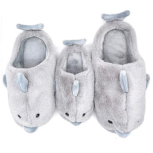 ba98c350ccf0 Dolphin Girls Warm Parent-Child Slippers for Little Kids