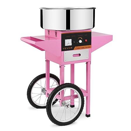 ... de Azúcar Acero Inoxidable Máquina Eléctrica para hacer Algodón de Azúcar Cotton Candy Machine Commercial (con Cubierta y Carrito): Amazon.es: Hogar