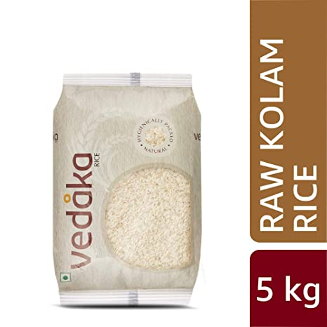 Amazon Brand - Vedaka Kolam Rice, Raw, 5kg