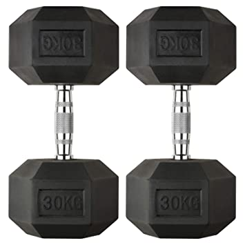 2x 10kg Mirafit 20kg Dumbbell Hex Weight Set