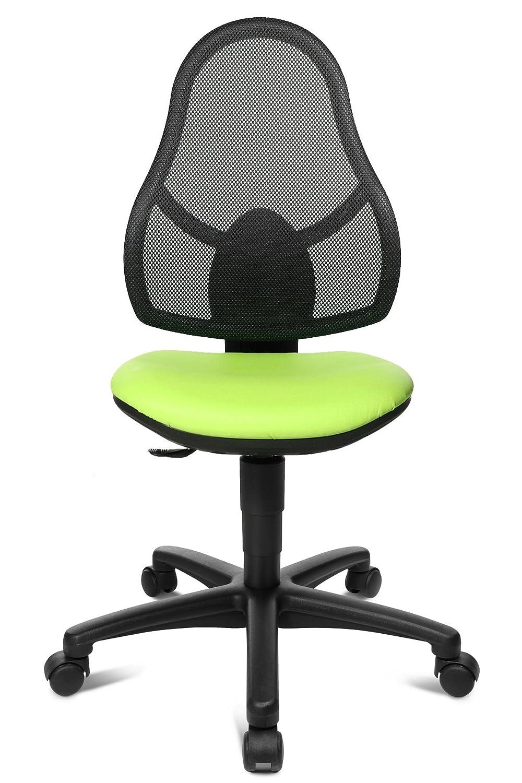 Topstar Kinderdrehstuhl Maxx Net Junior apfelgrün / schwarz mit Teppichbodenrollen