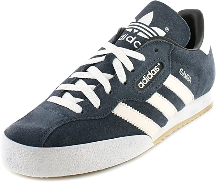 4228f37f8f8 adidas Samba Super Suede Leather Indoor Soccer Shoes Trainers - Navy  Suede/White - UK SIZE 9: Amazon.co.uk: Shoes & Bags