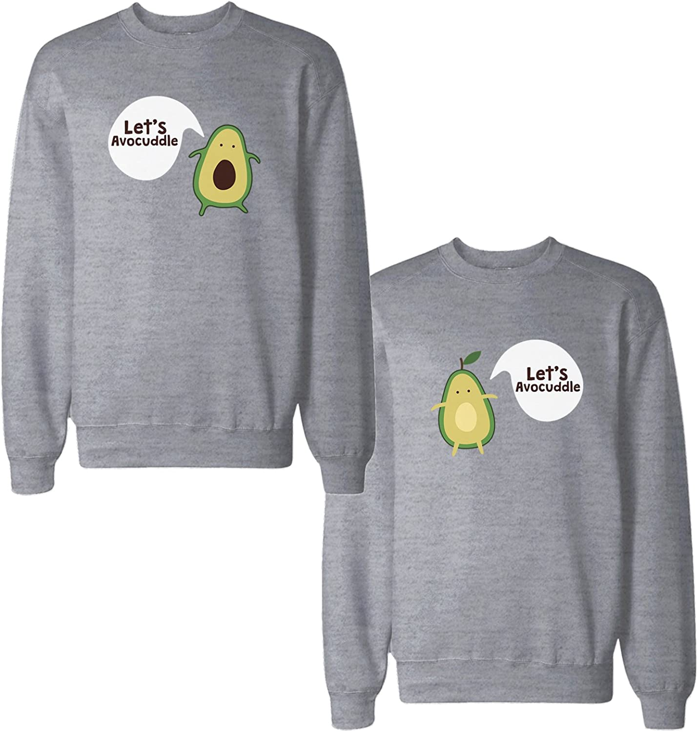 365 Printing Lets Avocuddle Couple Sweatshirts Cute Matching Gifts for Christmas