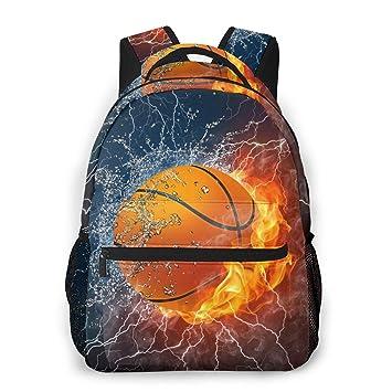 Balón de Baloncesto sobre Fuego y Agua con Mochilas iluminadoras ...