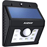 Solar Powered Lights 8 LEDs Wireless Security Motion Sensor Wall Lights, Ultra-Bright& Waterproof Night Light for Outdoor Garden Wall,Yard,Patio,Deck,Driveway,Porch with Motion Activated Auto On/Of
