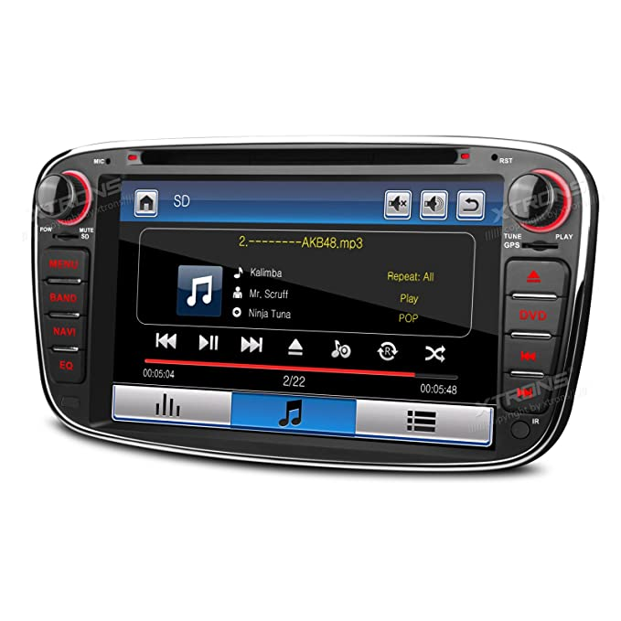 """XTRONS® 7 """"HD pantalla táctil estéreo de coche reproductor de DVD con navegador"""