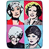 "Golden Girls Themed Warhol Fleece Blanket Comforter | 45""x60"" Stadium Blanket"
