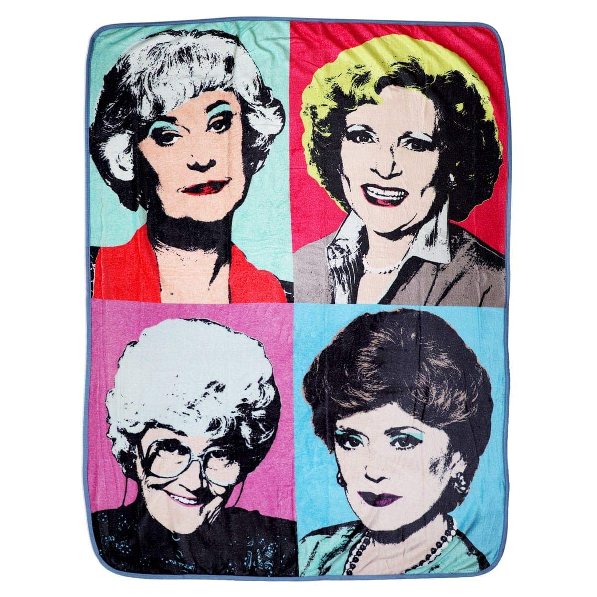 Golden Girls Themed Warhol Fleece Blanket Comforter | 45 x 60 Inches Stadium Blanket