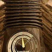 Fuegonet 231301 Termómetro Magnético, Negro, 10.5x3x14.5 cm