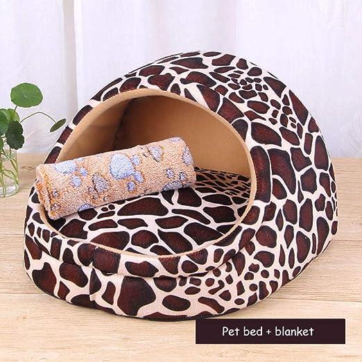 yhwygg Cama Perro Cubierta Extraíble Mat Dog House Camas para Perros para Perros Pequeños Y Medianos Productos para Mascotas House Pet Beds para Gatos W266 @ White_26X27X26Cm: Amazon.es: Productos para mascotas