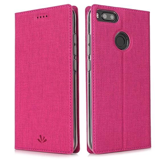 new arrival 2bfc9 46b43 Amazon.com: Xiaomi Mi A1 case, Feitenn Premium Leather Flip Cover ...