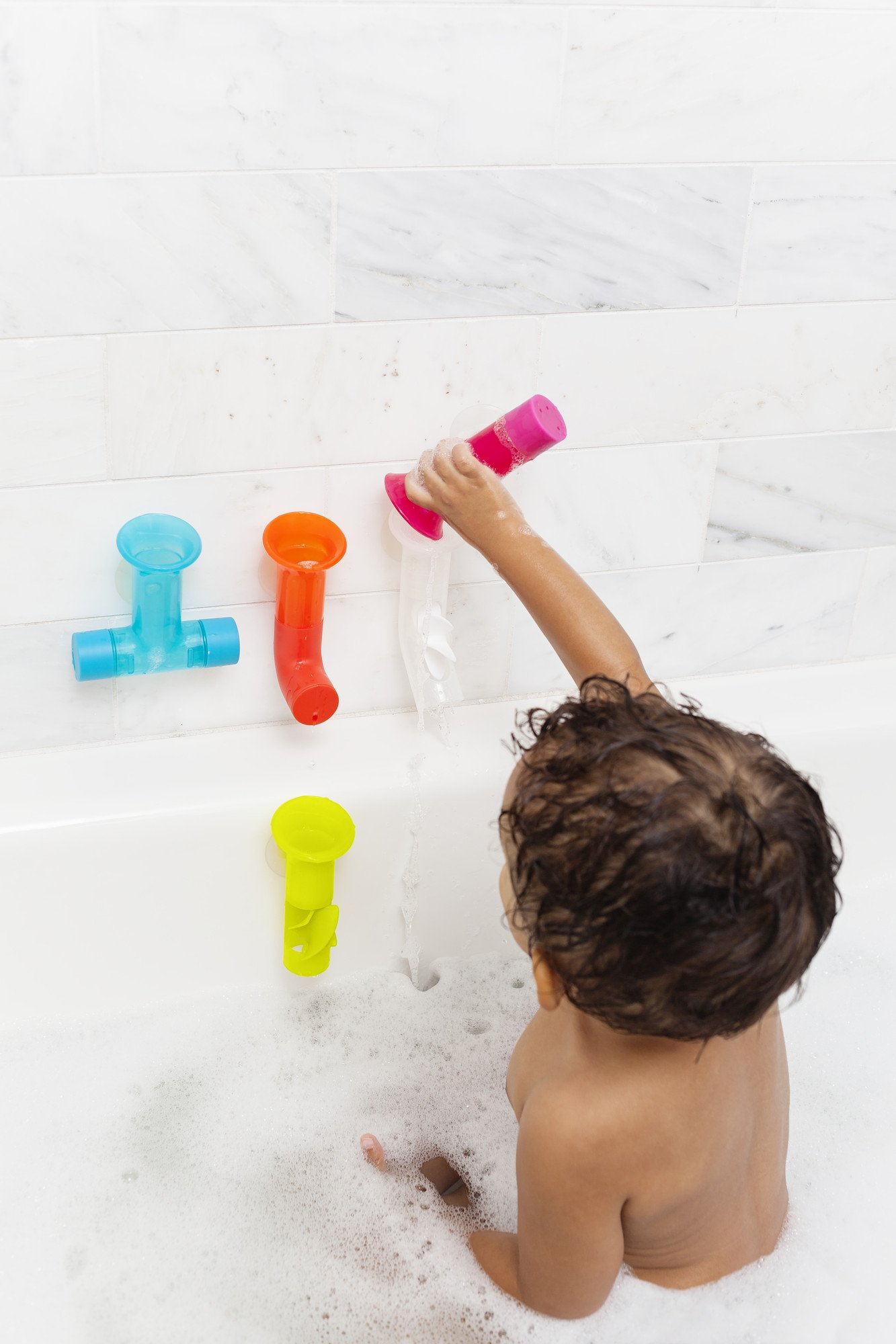 Boon Water Pipes Building Bath Toy Set Boon Free Shipping!