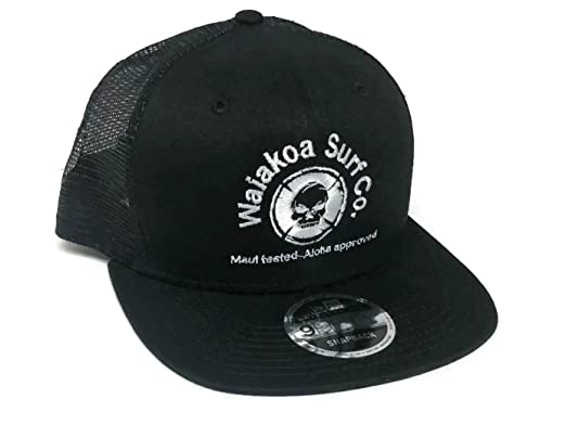 12ca182eba8 ... best price maui hawaii surfer new era 9fifty snapback trucker hat black  fe523 1750c