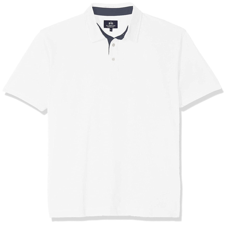 La Martina Man Polo Short Sleeve Piquet Stretch Camiseta, Blanco ...