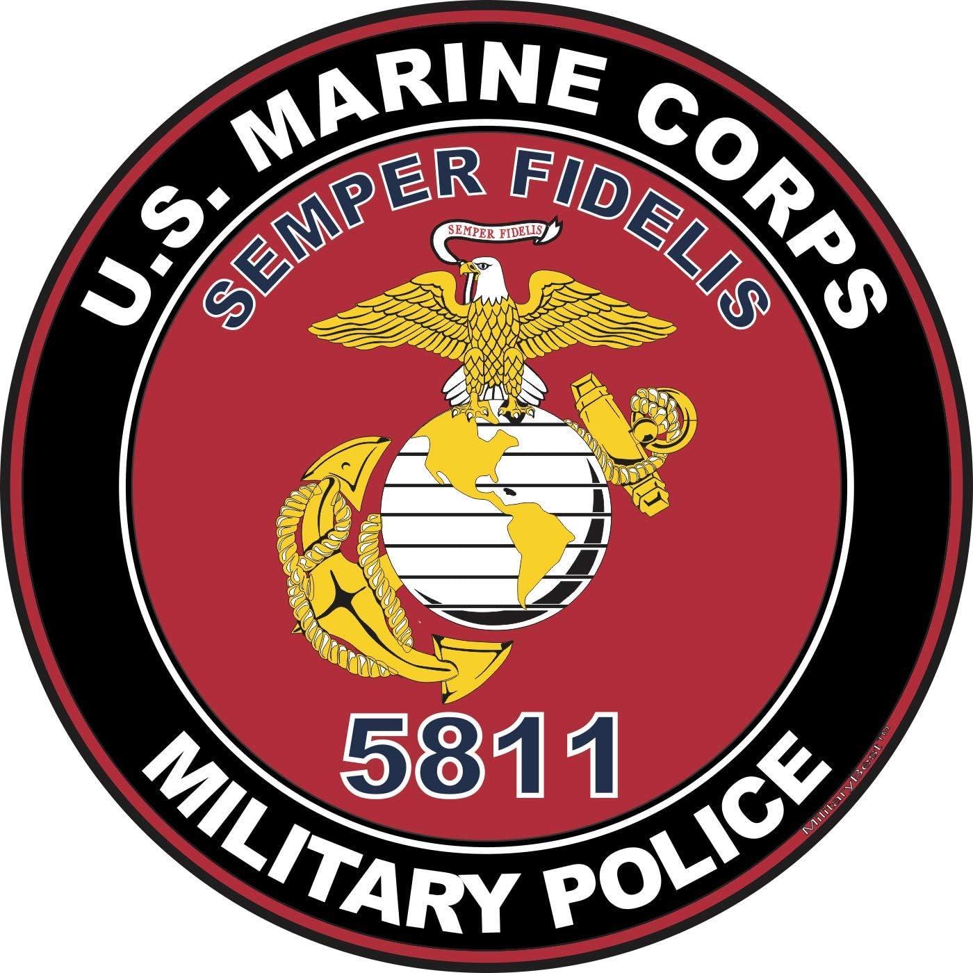 USMC Semper Fidelis Decal United States Marine Corps High Quality Reflective 3M