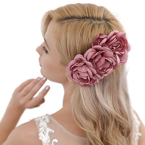 Topqueen Hochzeit Haarkamm Mit Perlen Haarschmuck Blumen Braut