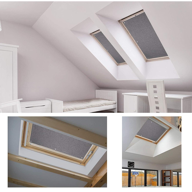 100cm Beige Estores de techo para tragaluces para ventanas de tejado Velux 57