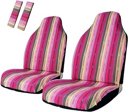 dise/ño de rayas SUV y cami/ón 4 unidades multicolor Funda universal para asiento delantero de coche Copap Baja