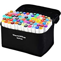 Memoffice 80 Colors Dual Tips Alcohol Markers, Art Markers Set for Kids Adults, Alcohol Based Markers with Carrying Case…