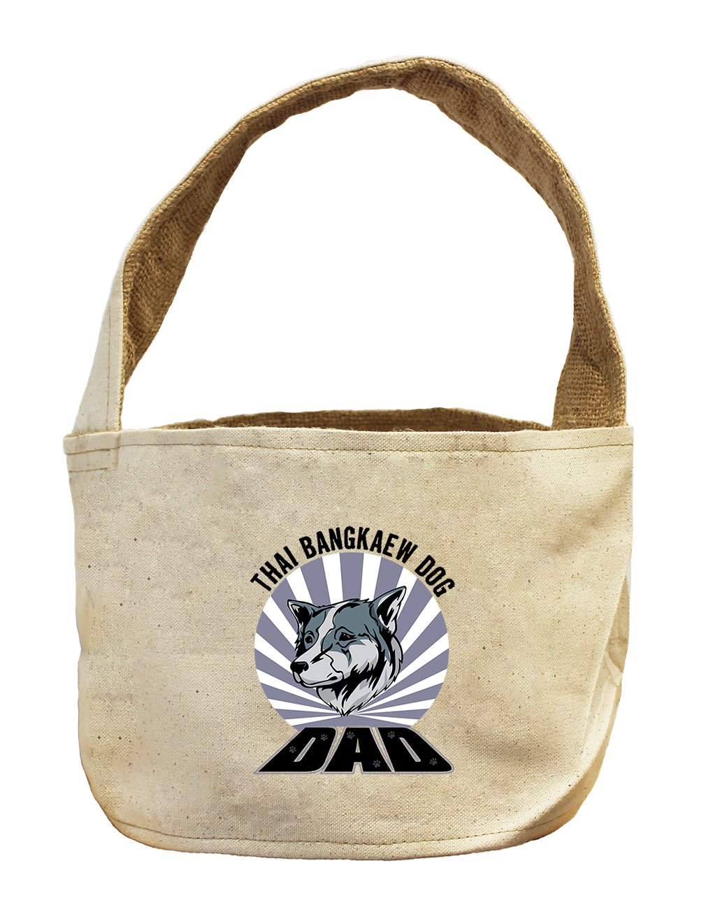 Style in Print Canvas And Burlap Storage Basket Dad Thai Bangkaew Dogdog