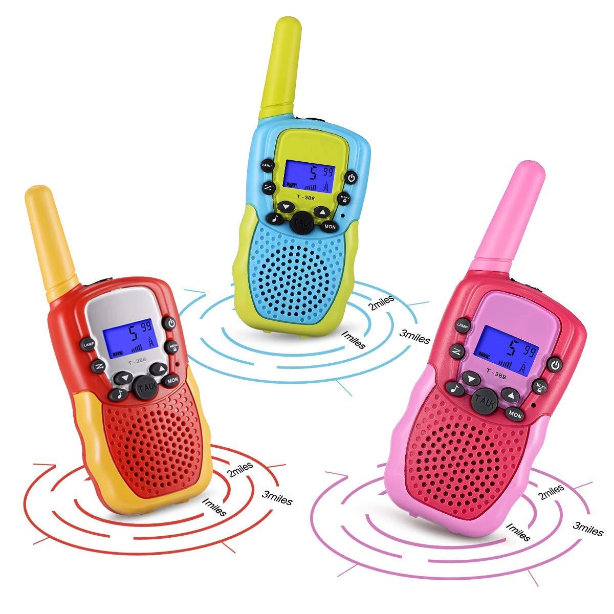 Walkies Talkies for Kids, Two Way Radios 4 Miles Handheld Mini Kids Walkie Talkies for Kids Toys by VERDUO (Image #2)