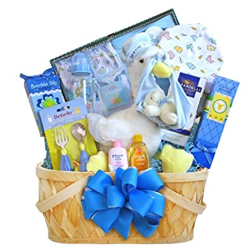 Amazon Special Stork Delivery Boys Newborn Baby Gift Basket