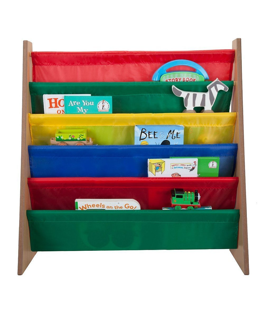 Saganizer 5 pockets book shelf and magazine rack Toddler-sized book rack for Kids and book organizer for adults 4227