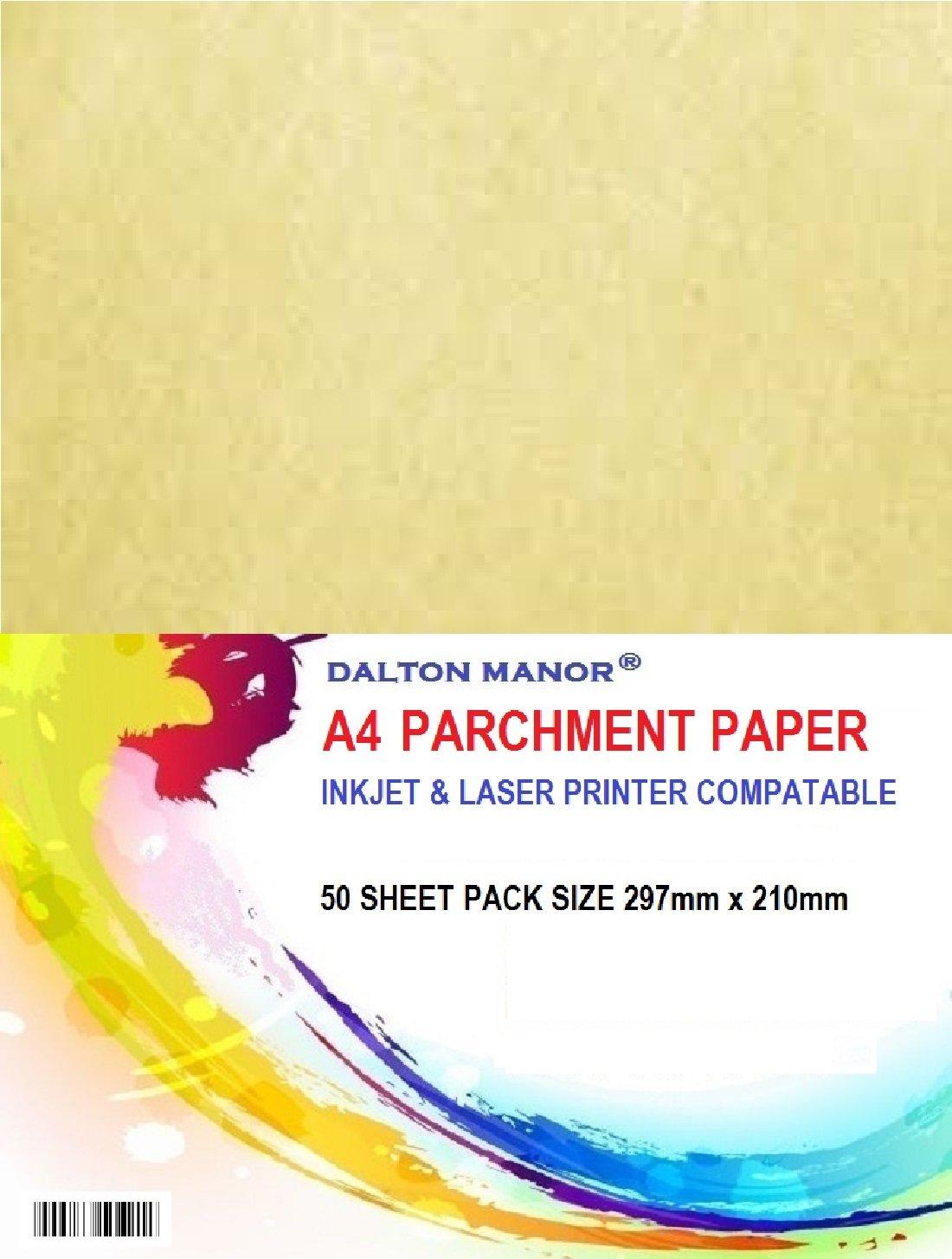 Confezione da 50fogli A4di carta pergamena da 90gr/m2, certificato di alta qualità DALTON MANOR