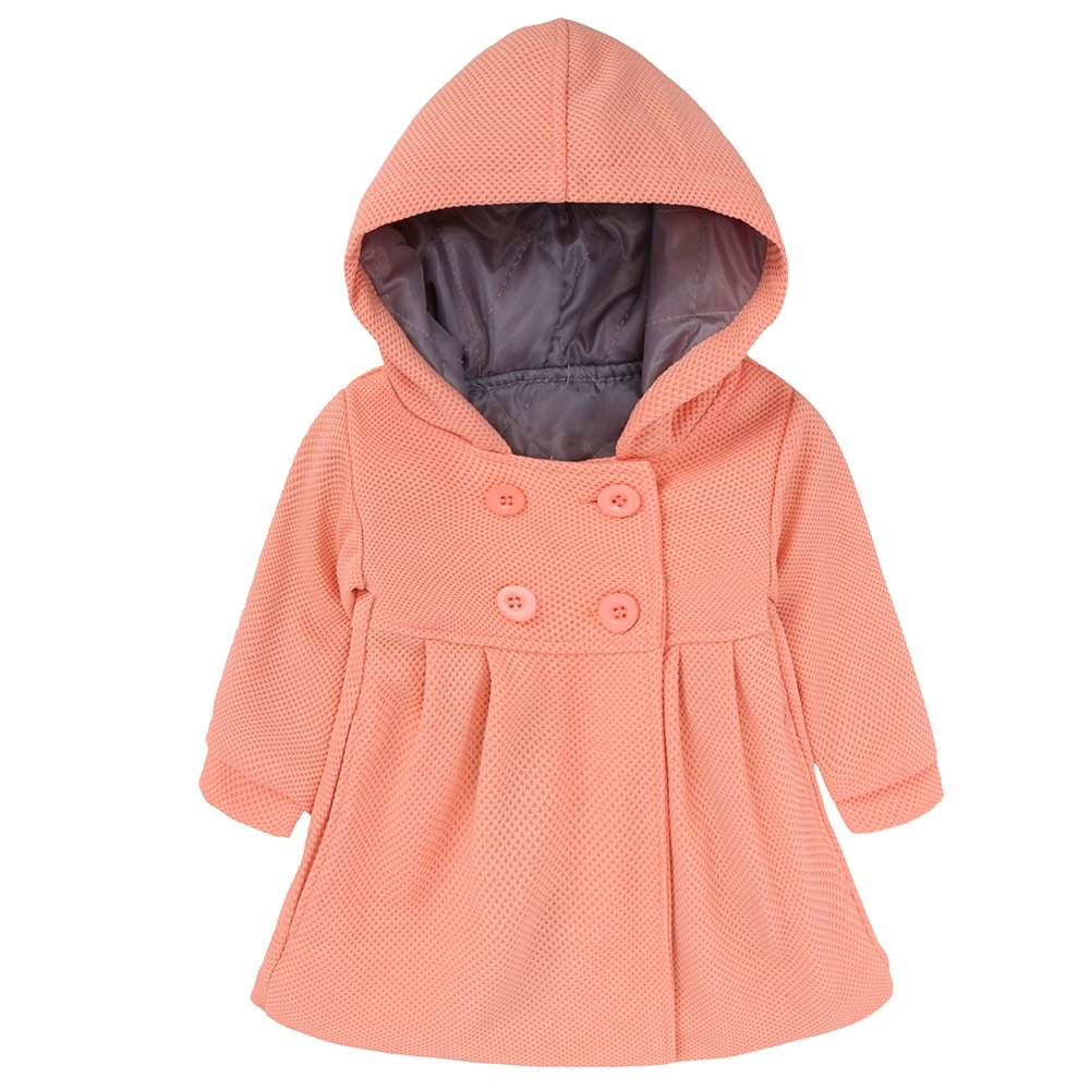 Kids Tales Baby Girls Hooded Warm Wool Cotton Jacket Trench Coat Outwear Fuzhou Shang Ku Trade Co. Ltd.
