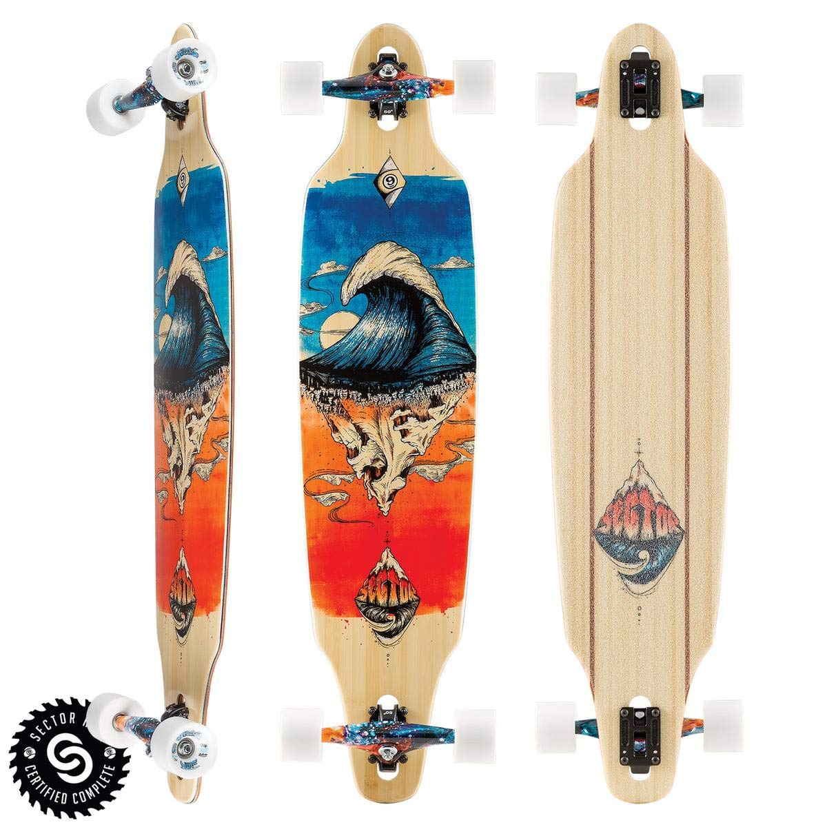 Sector 9 Pinnacle Lookout Dropthrough Complete Longboard Skateboard, 9.6-Inch x 42.0-Inch