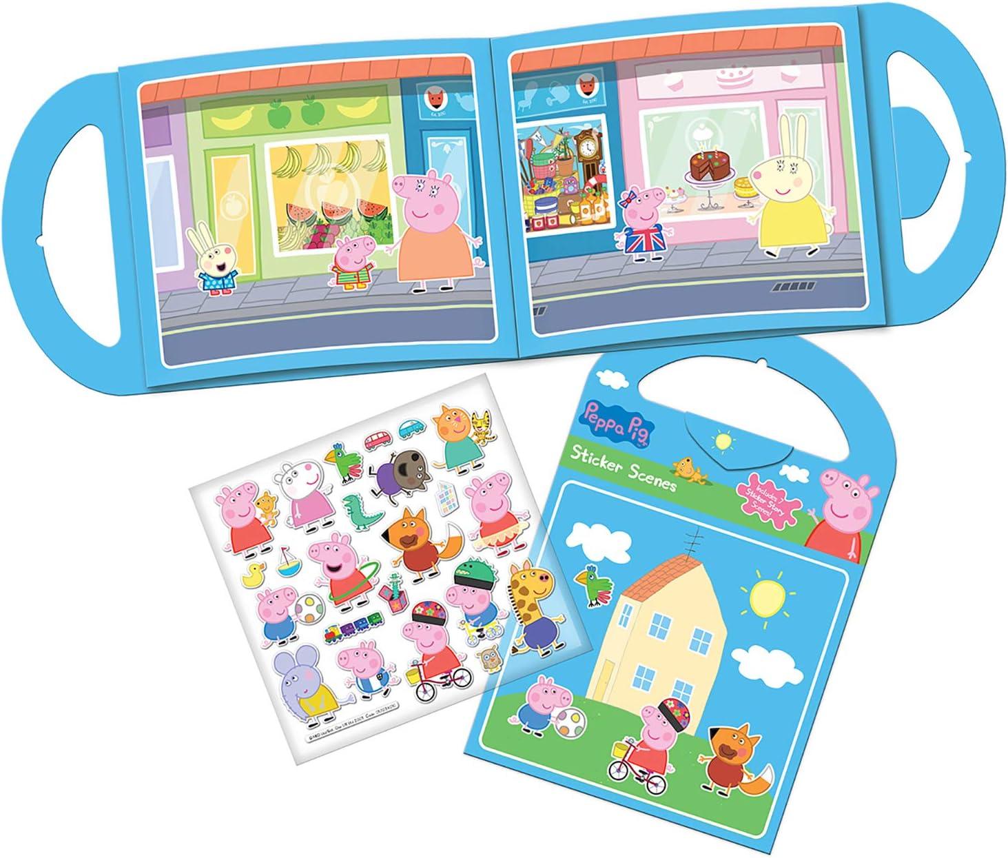 Paper Projects 01.70.29.010 Peppa Pig - Juego de actividades (6 escenas y más de 50 pegatinas reutilizables)