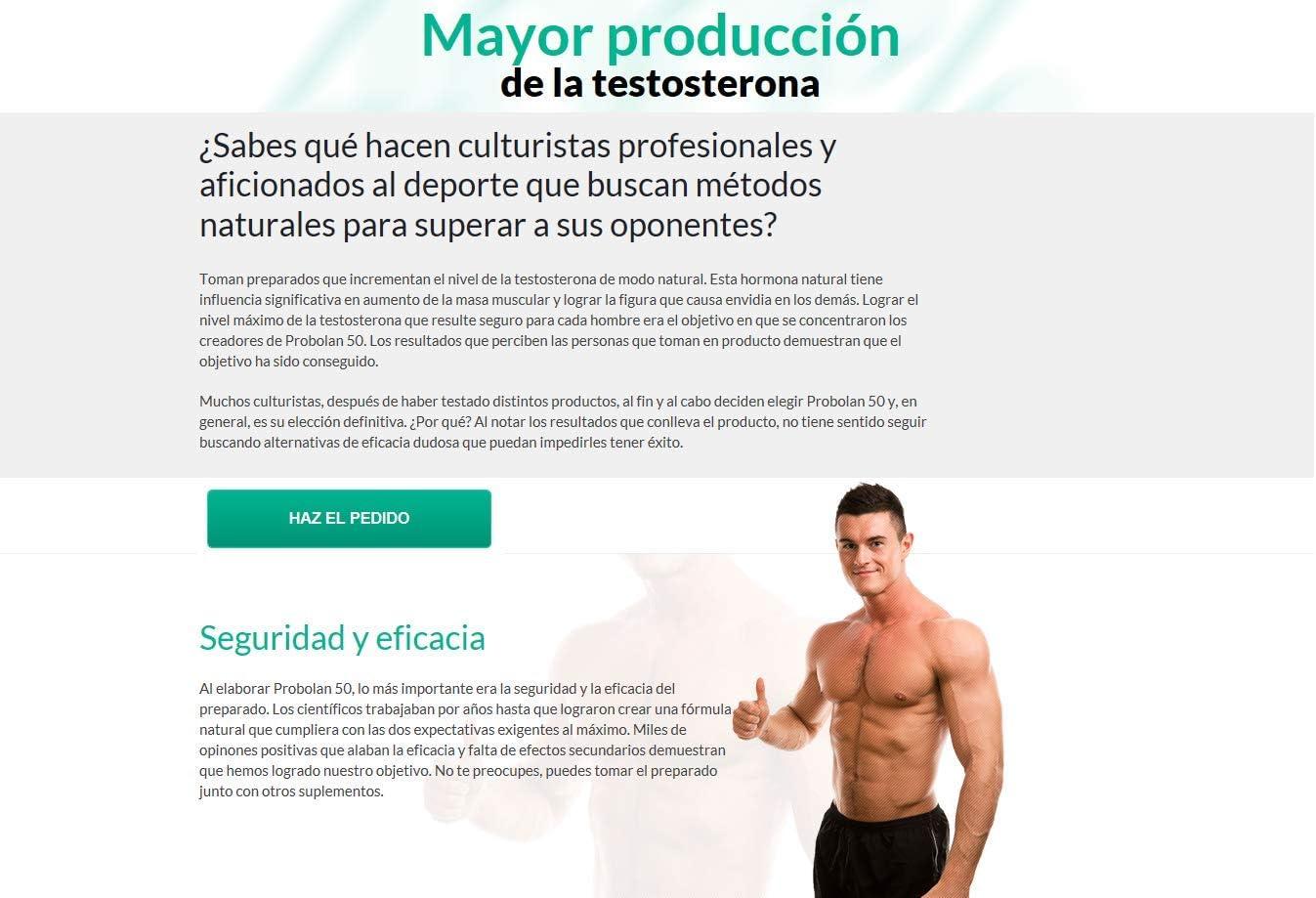 PROBOLAN 50 Premium: ¡el 400% de refuerzo de testosterona, espectacular generación de masa muscular, conversión inmediata de grasa a músculo, Para más ...
