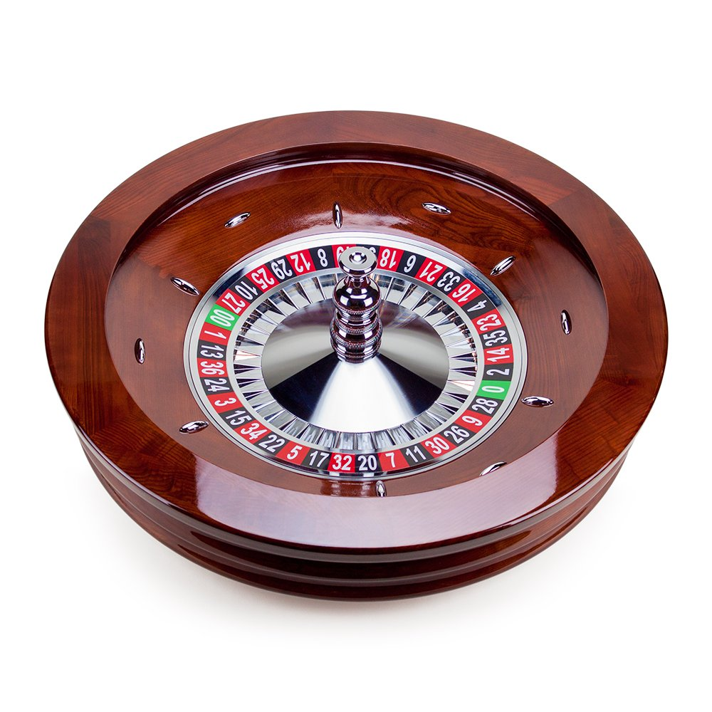 Brybelly 32-Inch Deluxe Casino Quality Wood Roulette Wheel