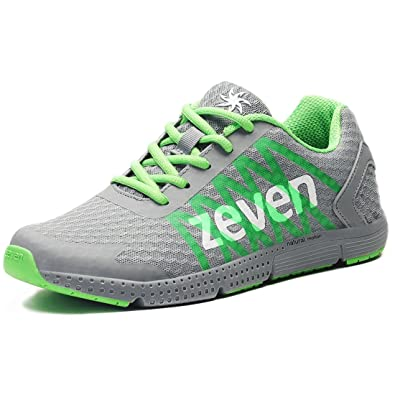 0e0bb4cb6cdd2 Zeven Velocity-Running Shoes Men (UK/IND 6, Grey & Green): Buy ...