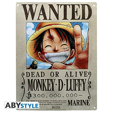 One Piece - 3D Cartel de Chapa - Wanted Luffy Luffy - 38 x ...