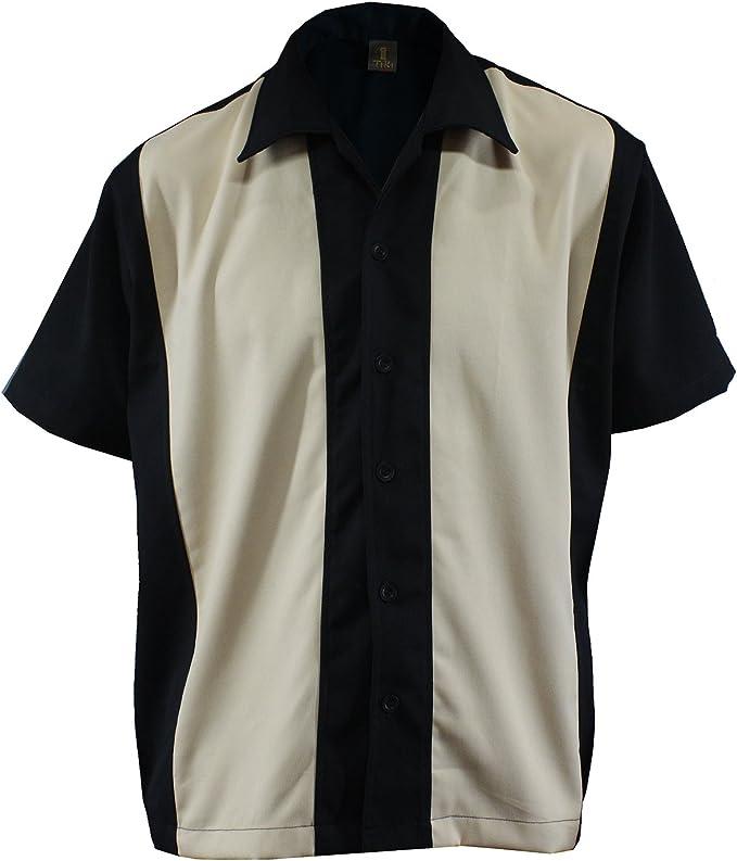 Bolos para hombre camiseta Worker Camisa Rockabilly Two Tone Gabardine Lounge Fifties Vintage Retro Double Panel, D600: Amazon.es: Ropa y accesorios