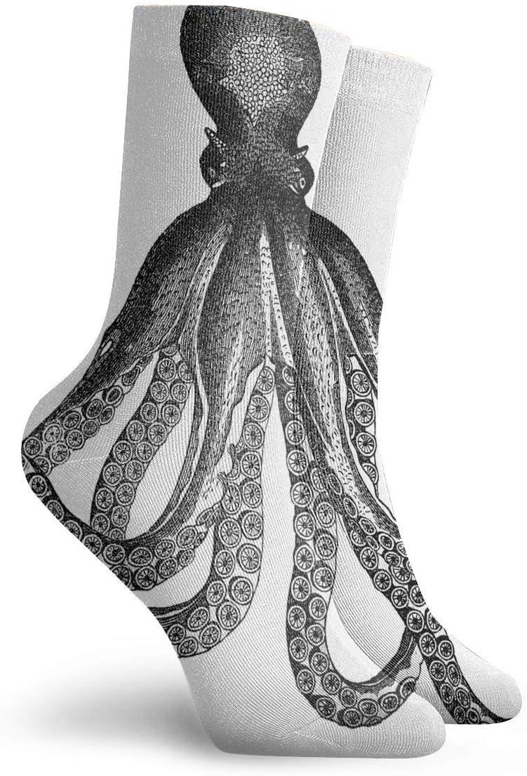 WEEDKEYCAT Ocean Animal Octopus Sketch Adult Short Socks Cotton Cozy Socks for Mens Womens Yoga Hiking Cycling Running Soccer Sports