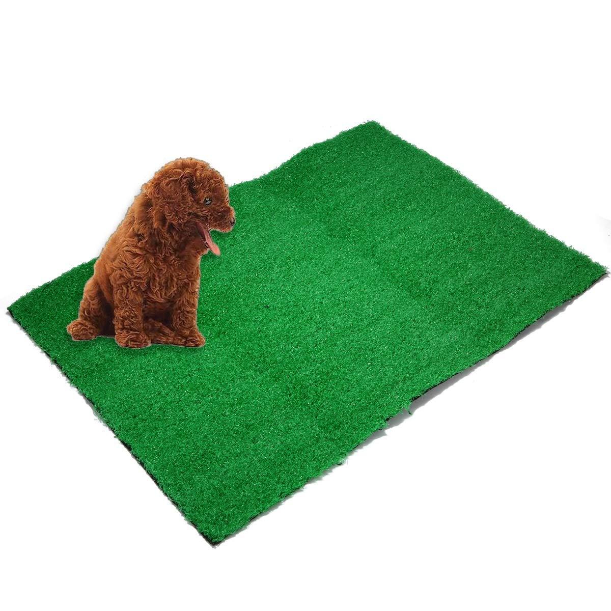 Yiye Zhiqiu 1 UNID Mascota Cachorro Entrenador de Potty Entrenamiento de Interior Aseo Perro Artificial C/ésped Pad Pad Pee Mat Parche para Peque/ño Perro de tama/ño Mediano
