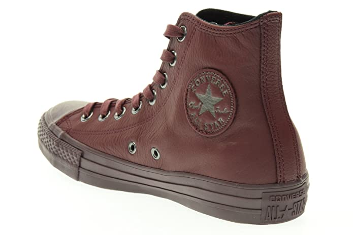 16f2378e23d7 Converse Sneaker Alta all Star Hi Leather Bordeaux EU 40  MainApps  Amazon. it  Scarpe e borse