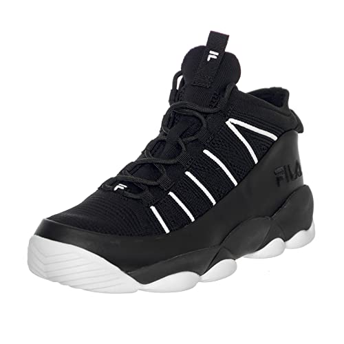 Fila Spaghetti Knit Sneakers - Black/White (UK 10): Amazon ...