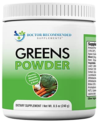Greens Powder -Doctor Recommended-Complete-Natural Whole Super Food Nutritional Supplement