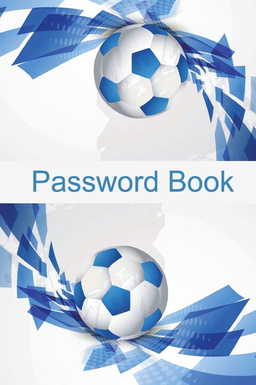 Password Book: Blue Football Background (Volume 37) PDF