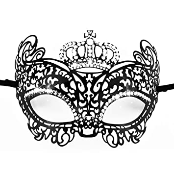 Metal Gold Masquerade Ball mask Carnival Costume Prom birthday Bridal Party