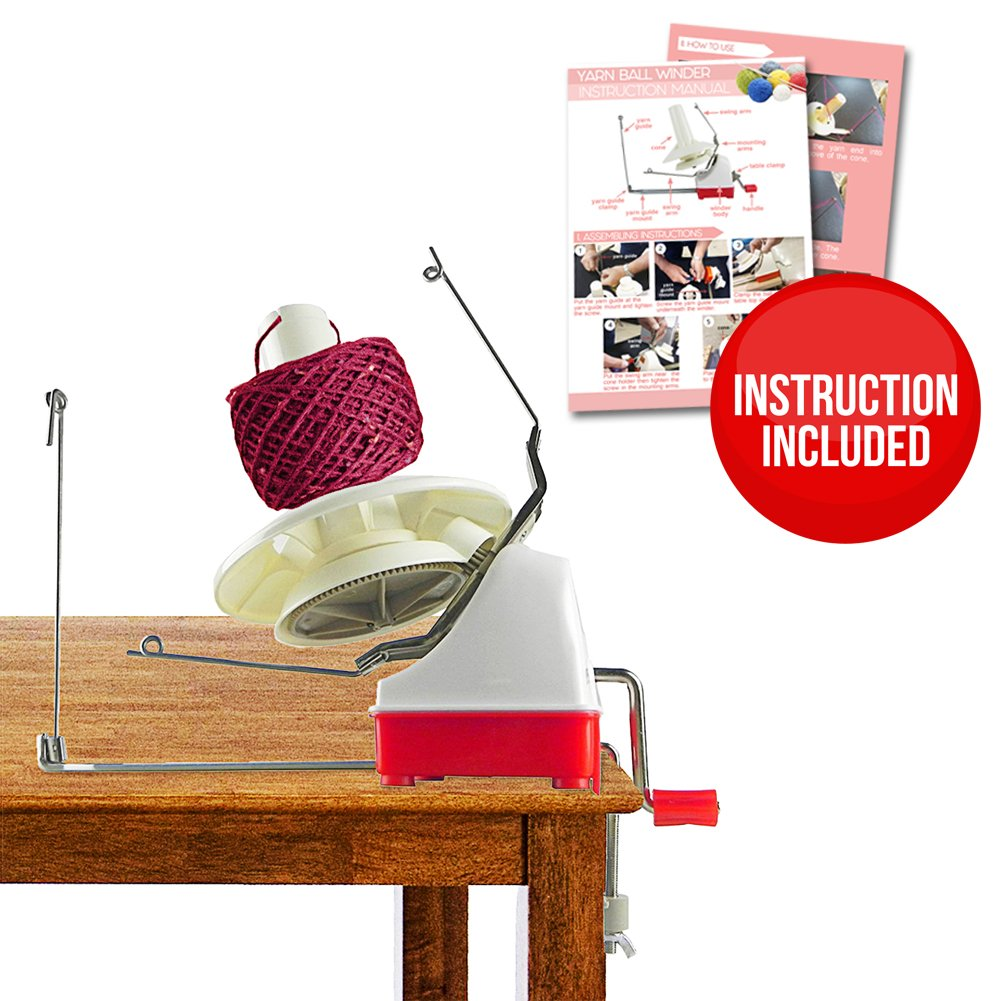 On Yarn Ball Winder – 4 Pcs Effective Jumbo Size Knitting Yarn Winder | Hefty Construction Hand Operated Yarn Ball Winder | Outstanding Solution for your Yarn Storage, Sewing, Knitting | 234.3