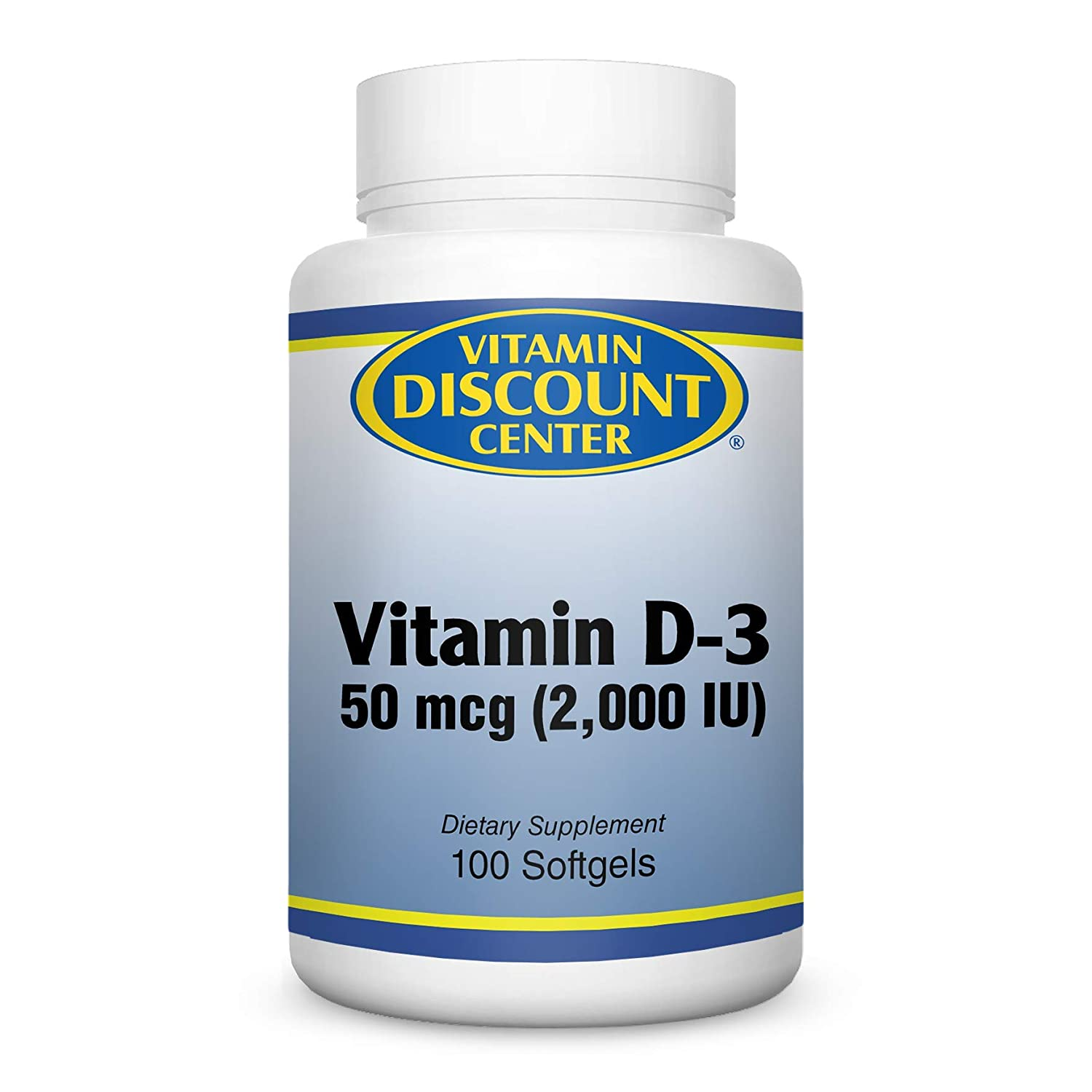 Vitamin Discount Center Vitamin D-3 2000 IU, 100 Softgels