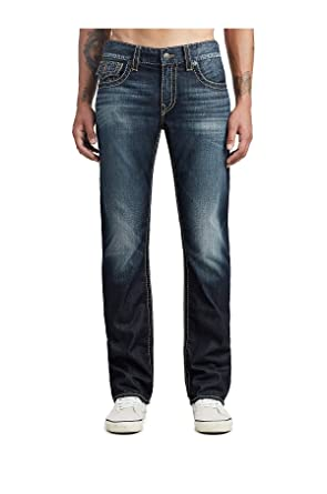 6088358d1 True Religion Men s Big T Straight Jeans w Flap Pockets in Dragons Lair (29