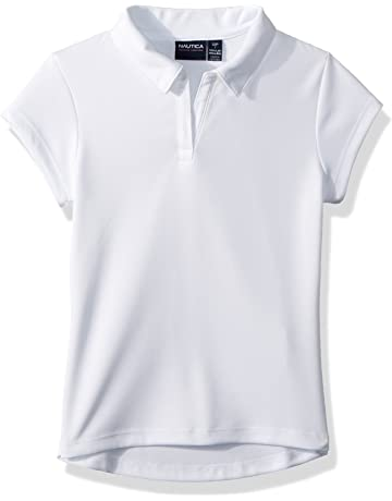 9bab0c0b1d Nautica Girls' School Uniform Short Sleeve Performance Polo